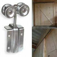 """SLIDING DOOR TRACK HANGER 2-1/8"""" Heavy Duty Steel Box Rail Roller Ball Bearings"""
