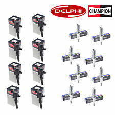 Set of 8 Delphi Ignition Coils and Champion 3013 Spark Plugs for Ford Motor Co