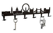 Schlüsselbrett London Skyline - Schlüsselboard England, Hakenleiste Metall