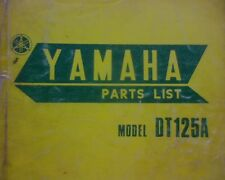 Yamaha DT125A, DT125 A series original FACTORY spare parts manual / book