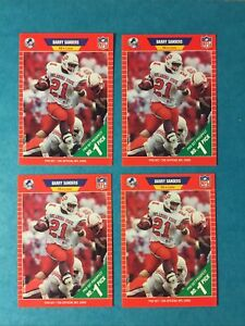 1989 Pro Set Barry Sanders #494 (4 Card Lot)