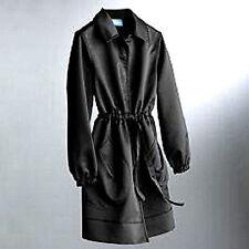 Brand New! Womens Simply Vera Wang Black Trench Coat Jacket Size Small S $128