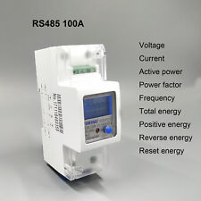 100A 220V 230V 50Hz 60Hz voltage current energy meter with RS485 MODBUS-RUT