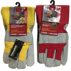MidWest Lined Leather Gloves - Large Pack of 2