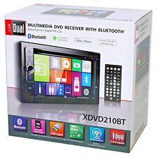 "DUAL XDVD210BT 6.2"" 2-Din In-Dash Car Monitor DVD USB SD Bluetooth External Mic"