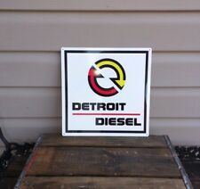 Detroit Diesel Metal Sign Garage Shop Truck Mechanic Repro 12x12 50040