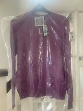 BNWT M&S Cardigan Colour Heather Size 14