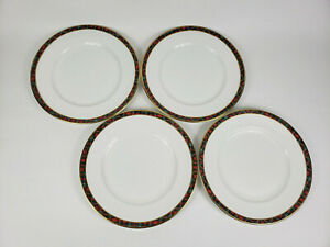 "Rare Vintage Ralph Lauren McLean Tartan Plates Set of 4 Plaid 10 3/4"" Mint Cond."