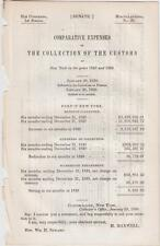 Comparative Expenses of the Collection of the Customs at New York in 1848 & 1849