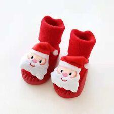 Newborn Baby Socks Red Boy Girl Christmas Floor Socks Anti-Slip Baby Step Socks