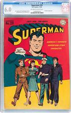 Superman #29 CGC 6.0 DC 1944 Prankster Justice League! JLA! F2 118 cm