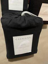 Casaluna Linen Sheet Set KING 100% Linen 4 Piece/Black