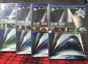Star Trek L'Ultima Frontiera Generazioni Primo Contatto La Nemesi 4 DVD Nuovi
