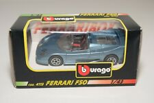 V 1:43 BBURAGO BURAGO 4113 FERRARI F50 F 50 METALLIC BLUE MINT BOXED