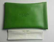 KATE SPADE GREEN SUNGLASSES POUCH CASE WITH CLEANING CLOTH