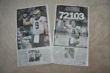 DREW BREES NFL Passing Record New Orleans Advocate Newspaper 10/9/2018