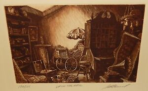 "SCOTT FITZGERALD ""UP IN THE ATTIC"" LIMITED EDITION HAND SIGNED ETCHING"