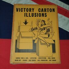 Vintage Magic Tricks Stage Instructions Books - Victory Cartons Illusions Plans