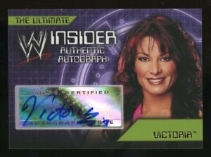 2006 Topps WWE Wrestling Insider The Ultimate Victoria Signed AUTO