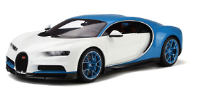 1/12 GT Spirit Kyosho Bugatti Chiron in white and Blue  KSR08664W-Z