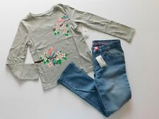 NWT Gap/Children's Place 2 Pc Girls Super Skinny Jeans/LS T-Shirt XS/5 & S-6X/7