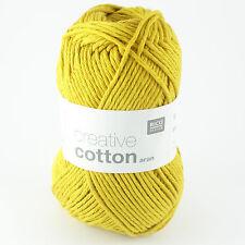 Rico Creative Cotton Aran - 100% Cotton Knitting & Crochet Yarn - Mustard 70