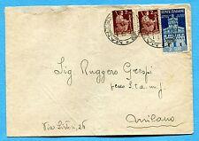 1946 AVV.REPUBBLICA £.2 + DEM.£.2 DUE ESEMPLARI ann.MANTOVA, 17.05.46  (255013)