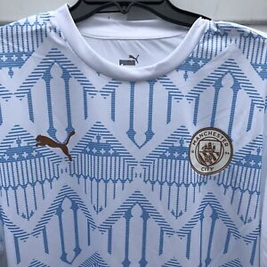 New Puma Manchester City FC 20/21 Stadium Jersey 758030 08 Sky Blue Men Size XXL