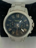 FOSSIL FS4994 Grant Men's Stainless Steel Analog Black Dial Wrist Watch ZW30