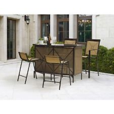 Patio Bar Set Counter Height Dining Furniture Sets Clearance Outdoor Stool Table