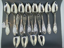 Scarce Set of 12 Early American Coin Silver Spoons Pat'd 1852