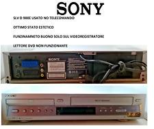 COMBO VIDEOREGISTRATORE vcr LETTORE VHS/DVD USATO SONY SLV 900 E NO TELECOMANDO