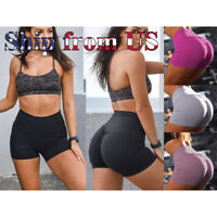 Women's Fashion Sports Yoga Shorts Push Up Gym Workout Waistband Skinny Pants