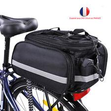 Sac de Vélo Professionel Sacoche de Vélo Porte Bagage arrière Imperméable Noir