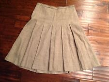 BCBG Max Azria Light Brown Pleated Skirt, Size 4