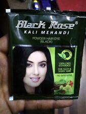 f0a58802e81f3 10 Sachets Black Rose Kali Mehandi Black Henna Herbal Hair 10 gms each -  100g