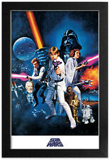 STAR WARS NEW HOPE ONE SHEET 13x19 FRAMED GELCOAT POSTER THE FORCE JEDI YODA NEW