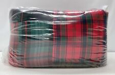 New Pottery Barn Sullivan Plaid Patchwork Full/Queen Quilt~Red Multi