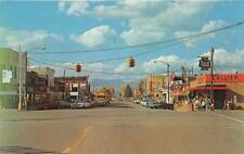 GUNNISON CO 1959 View of The Business Section with all the Old Stores & Cars 574