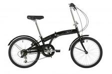 "Barracuda Apus Unisex 20"" Wheel 6 Speed Classic Folding Bike Bicycle Black"