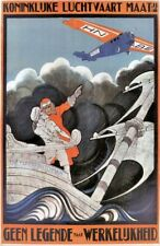 Vintage KLM Flying Dutchman -3- Travel Poster