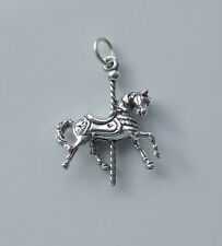 Carousel Horse Ciondolo 3D Argento Sterling 925