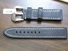 22MM ALFA QUALITY EURO GENUINE LEATHER WATCH BAND BUFFALO GRAIN SPORTS