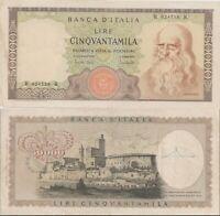 1970 Italia Banconota Lire 50000 Leonardo D.M. 19-07-1970 Rara 2 Bella Vedi Foto
