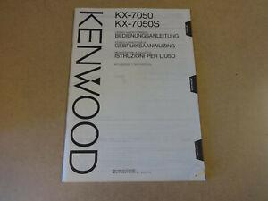 BEDIENUNGSANLEITUNG / GEBRUIKSAANWIJZING / MODE D'EMPLOI KENWOOD KD-291R