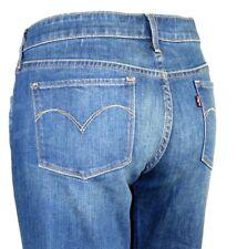 LEVI'S Medium Wash Slight Curve Flare Leg Mid Rise Jeans 31 Waist 36 Inseam 27