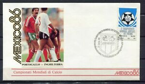 S13555) Mexico 3.6.1986 FDC Fifa Wc Football Portugal England