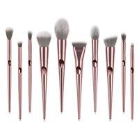 10X Professional Make up Brushes Set For Blusher Powder Foundation Eyeshadow USA