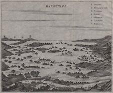 Matsushima. OCCHIO DI PERNICE vista delle Isole & villaggio. il Giappone. MURRAY 1901 OLD MAP