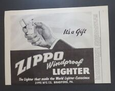 Original Print Ad 1946 ZIPPO Lighter It's a Gift PCB Windproof